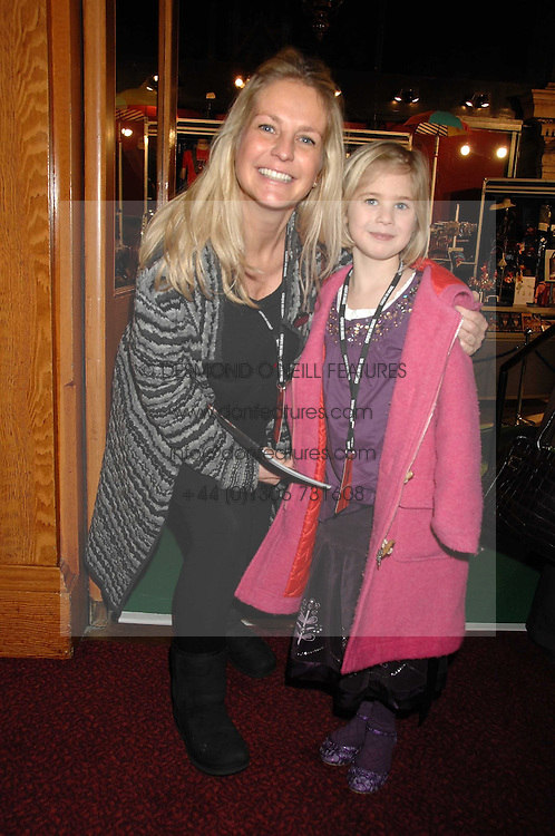 ULRIKA JONSSON and her daughter BO at the gala night of Varekai by Cirque du Soleil at The Royal Albert Hall, London on 8th January 2008.<br /><br />NON EXCLUSIVE - WORLD RIGHTS