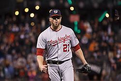 SAN FRANCISCO, CA - JULY 28: Shawn Kelley #27 of the Washington Nationals celebrates after the game against the San Francisco Giants at AT&T Park on July 28, 2016 in San Francisco, California. The Washington Nationals defeated the San Francisco Giants 4-2. (Photo by Jason O. Watson/Getty Images) *** Local Caption *** Shawn Kelley