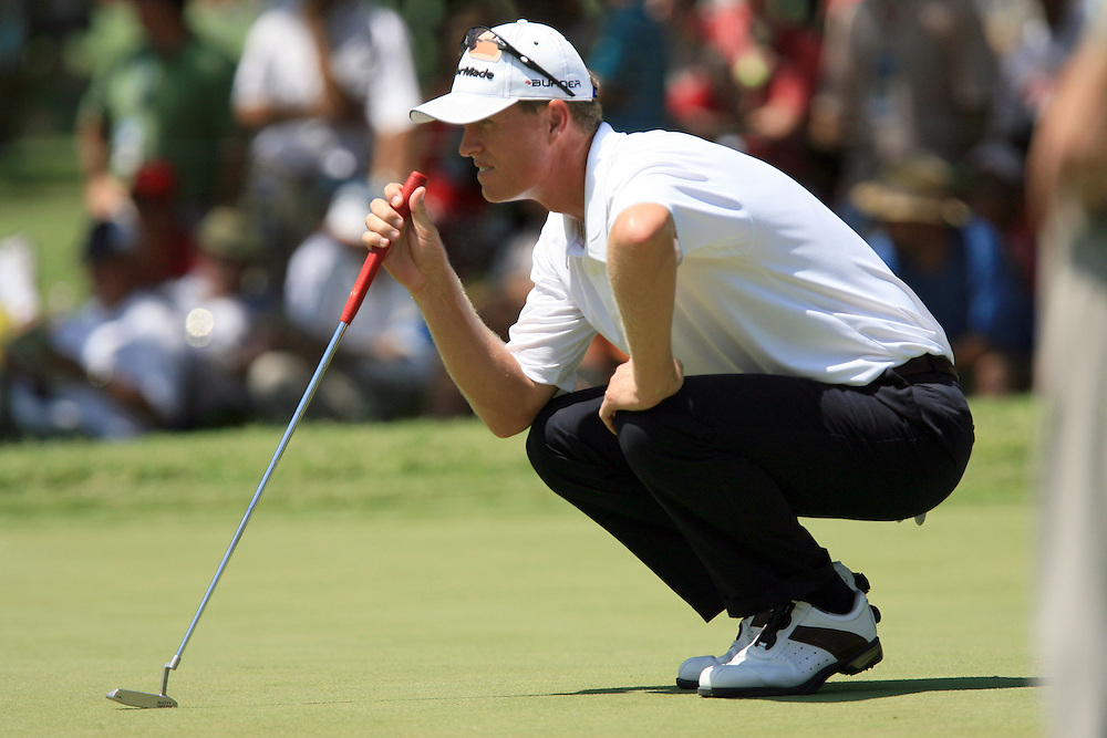 11 August 2007: John Senden analyzes the 3rd green during the third round of the 89th PGA Championship at Southern Hills Country Club in Tulsa, OK.