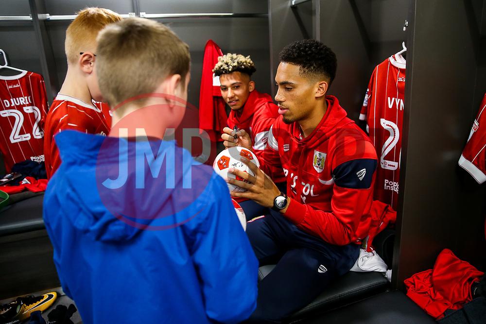 Zak Vyner of Bristol City looks on during the Mascot dressing room visit - Rogan/JMP - 24/10/2017 - Ashton Gate Stadium - Bristol, England - Bristol City v Crystal Palace - Carabao Cup Round of 16.