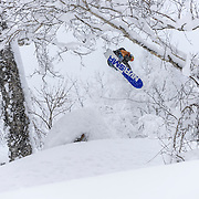 Nick Larson oozes steeze in the trees, Rusutsu Japan.