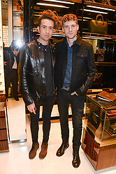 Left to right, NICK GRIMSHAW and GEORGE BARNETT at a party hosted by Gucci & Clara Paget to drink a new cocktail 'I Bamboo You' held at Gucci, 34 Old Bond Street, London on 16th October 2013.
