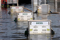 05 Sept  2005. New Orleans, Louisiana. Post hurricane Katrina.<br /> Murky water in Uptown New Orleans. Chemical pollution spills into the water.<br /> Photo; ©Charlie Varley/varleypix.com