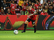 NONTHABURI, THAILAND - JULY 09: Tristan of SCG Muangthong in action during the second half of the Thai League: SCG Muangthong United vs Buriram United at SCG Stadium, Nonthaburi, Thailand on July 09, 2017.<br /> .<br /> .<br /> .<br /> (Photo by: Naratip Golf Srisupab/SEALs Sports Images)<br /> .<br /> Any image use must include a mandatory credit line adjacent to the content which should read: Naratip Golf Srisupab/SEALs Sports Images