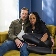 Pam and Warren, Johannesburg, July 2015<br /> Pam is 29 years old. She is half-Zambian and half-Zimbabwean and has been living in South Africa since 2005. Warren is a 32 year-old South African. They are married and have a daughter. They both come privileged backgrounds and have had friends of different races since they were young. They met and got together as they were neighbours and ran in the same circles. Their friends and family have always been supportive of their relationship. When they go out, they sometimes experience disapproving or curious looks. But overall, they agree the situation is improving and the change of mentalities is happening in big cities of South Africa while people remain more intolerant in more rural areas. &copy; Miora Rajaonary
