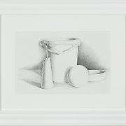 "Title: Basic Still Life<br /> Artist: Joseph Clark<br /> Date: 2010<br /> Medium: Graphite<br /> Dimensions: 19 x 15""<br /> Instructor:<br /> Status: Available<br /> Location: HLC4000 Storage"
