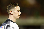 Tom Lawrence of Derby County during the EFL Sky Bet Championship match between Barnsley and Derby County at Oakwell, Barnsley, England on 2 October 2019.
