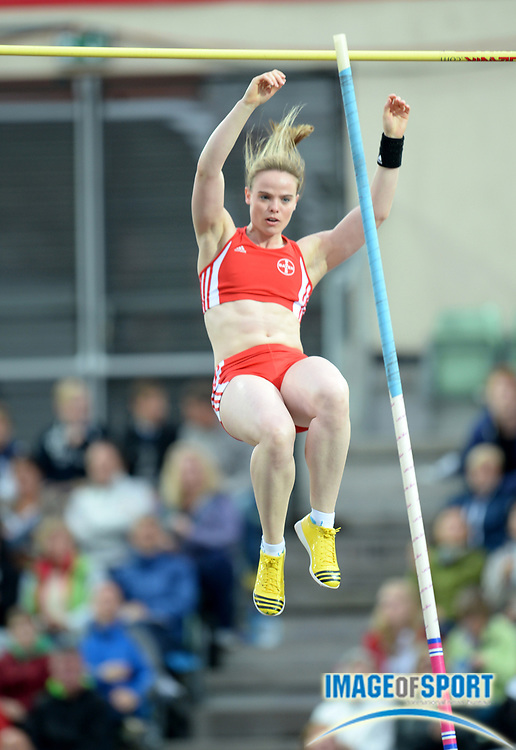 Jun 13, 2013; Oslo, NORWAY; Silke Spiegelburg (GER) wins the womens pole vault at 15-3 (4.65m) at in the 2013 ExonMobil Bislett Games at Bislett Stadium. Photo by Jiro Michozuki