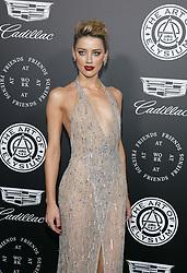 Amber Heard at the Art Of Elysium's 11th Annual Heaven Celebration held at the Barker Hangar in Santa Monica, USA on January 6, 2018.