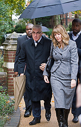 © Licensed to London News Pictures. 26/10/2011. London, UK. Mitch Winehouse  and his partner Jane arriving at St Pancras Coroners Court in London today (26/10/2011) for the inquest in to the death of singer Amy Winehouse.  Photo credit: Ben Cawthra/LNP