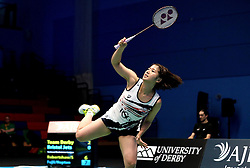 Mizuki Fuji of Bristol Jets during the women's doubles - Photo mandatory by-line: Robbie Stephenson/JMP - 07/11/2016 - BADMINTON - University of Derby - Derby, England - Team Derby v Bristol Jets - AJ Bell National Badminton League