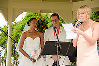 Jen and Tony's Wedding Day.  Ceremony.  York, Maine.  ©2015 Karen Bobotas Photographer