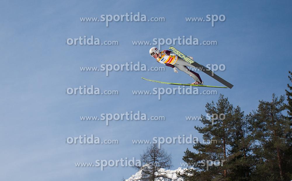 23.03.2013, Planica, Kranjska Gora, SLO, FIS Ski Sprung Weltcup, Skifliegen, Team, Probedurchgang, im Bild Stefan Kraft (AUT) // Stefan Kraft of Austria during his trial jump of the FIS Skijumping Worldcup Team Flying Hill, Planica, Kranjska Gora, Slovenia on 2013/03/23. EXPA Pictures © 2012, PhotoCredit: EXPA/ Juergen Feichter