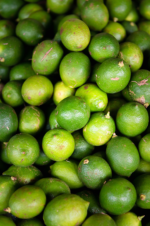 Limes for sale at a street market in Havana