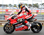 World Superbike Championship. Round 1. Phillip Island. Australia. Saturday 25.2. 2017 WSBK Motorcycle race, Motorrad-Rennen. <br /> #7 Chaz Davies (GBR) Ducati Panigale R  Aruba.it Racing - Ducati.  <br />  - fee liable image, copyright © ATP/ Damir IVKA