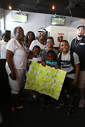 EXCLUSIVE: Family of teenage tennis phenom Cori Gauff gather at the Paradise Sports Lounge in Delray Beach. Cori's grandmother Yvone Odom was hosting the victorious afternoon and Cori's brothers and cousins were in attendance as well. 05 Jul 2019 Pictured: Paradise Sports Lounge; Yvonne Odom; Cori Gauff family. Photo credit: MEGA TheMegaAgency.com +1 888 505 6342