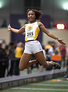 Feb 24, 2017; Seattle, WA, USA; Margaux Jones of Southern California wins the women's long jump at 20-5 3/4 (6.24m) during the MPSF Indoor Championships at the Dempsey Indoor.