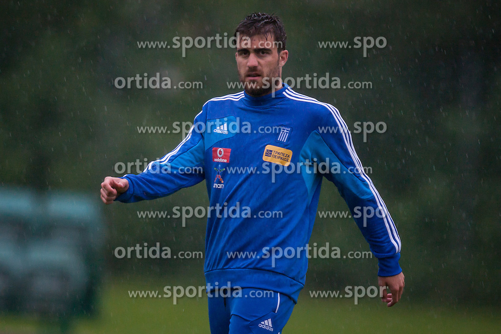 23.05.2012, Casino Stadion, Kitzbuehel, AUT, UEFA EURO 2012, Trainingscamp, Griechenland, Training, im Bild Sokratis Papastathopoulos, (GRE) // during a trainings Session of Greece National Footballteam for preparation UEFA EURO 2012 at Casino Stadium, Kitzbuehel, Austria on 2012/05/23. EXPA Pictures © 2012, PhotoCredit: EXPA/ Juergen Feichter