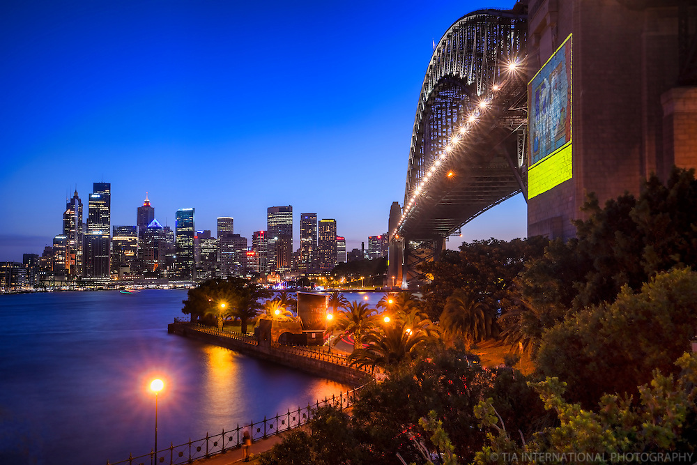 Harbour Bridge & Sydney Skyline from Bradfield Park