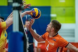 09-06-2019 NED: Golden League Netherlands - Spain, Koog aan de Zaan<br /> Fourth match poule B - The Dutch beat Spain again in five sets in the European Golden League / Thijs Ter Horst #4 of Netherlands