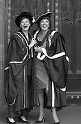 PIC BY HOWARD BARLOW. .CILLA BLACK RECEIVES AN HONARY FELLOWSHIP OF LIVERPOOL'S JOHN MOORES UNIVERSITY FROM THE UNIVERSITY HON. CHANCELLOR CHERRIE BOOTH AT A SERVICE AT THE CITY'S ANGLICAN CATHEDRAL.