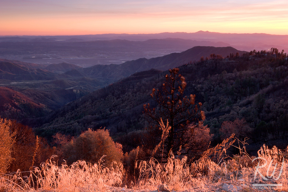 San Bernardino Mountains Scenic View Near Running Springs, California