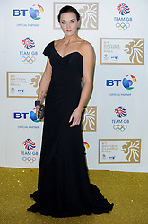 Victoria Pendleton during the BT Olympic Ball, held at the Grosvenor Hotel, London, UK, November 30, 2012. Photo By Anthony Upton / i-Images.