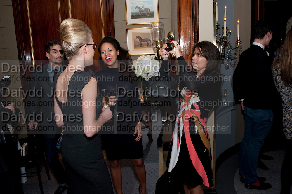 OLIVIA WILLIAMS;  RACHAEL; BARRETT;  DANIELLA ISSA HELAYEL;, Veuve Clicquot Tribute award dinner for Ruby Wax for her outstanding contribution to the greater understanding of mental illness in the UK. Berkeley Hotel, London. 25 November 2011.