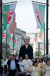 CARDIFF, WALES - Thursday, March 1, 2012: A float of Tom Jones during 10th St. David's Day Parade through the streets of Cardiff. (Pic by David Rawcliffe/Propaganda)