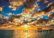 The sun sets on Coden Beach, Dec. 19, 2013. (Photo by Carmen K. Sisson/Cloudybright)
