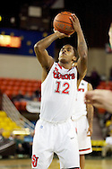 November 26th, 2010:  Anchorage, Alaska - St. John's senior guard Dwight Hardy (12) during the Red Storm's semi final game of the Great Alaska Shootout against the Drake Bulldogs.  The Red Storm defense held Drake to a tournament low score as St. Johns advanced to the final game 82-39.