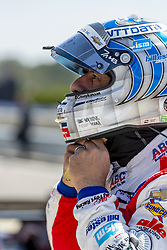 April 21, 2018 - Birmingham, Alabama, United States of America - TONY KANAAN (14) of Brazil waits for a practice session for the Honda Indy Grand Prix of Alabama at Barber Motorsports Park in Birmingham Alabama. (Credit Image: © Walter G Arce Sr Asp Inc/ASP via ZUMA Wire)