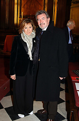 Actress ZOE WANAMAKER and her husband MR GAWN GRAINGER at a carol concert in aid of the Institute of Cancer Research at the Royal Hospital Chapel, Chelsea on 2nd December 2004.<br /><br />NON EXCLUSIVE - WORLD RIGHTS