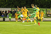 Forest Green Rovers Elliott Frear (11) has a shot at goal during the Vanarama National League match between Forest Green Rovers and Sutton United at the New Lawn, Forest Green, United Kingdom on 9 August 2016. Photo by Shane Healey.