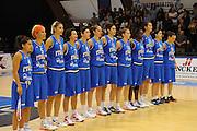 DESCRIZIONE : Pomezia Nazionale Italia Donne Torneo Citt&agrave; di Pomezia Italia Olanda<br /> GIOCATORE : team italia nazionale femminile<br /> CATEGORIA : presentazione<br /> SQUADRA : Italia Nazionale Donne Femminile<br /> EVENTO : Torneo Citt&agrave; di Pomezia<br /> GARA : Italia Olanda<br /> DATA : 26/05/2012 <br /> SPORT : Pallacanestro<br /> AUTORE : Agenzia Ciamillo-Castoria/GiulioCiamillo<br /> Galleria : FIP Nazionali 2012<br /> Fotonotizia : Pomezia Nazionale Italia Donne Torneo Citt&agrave; di Pomezia Italia Olanda