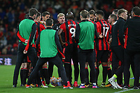 Football - 2017 / 2018 EFL (League) Cup - Third Round : AFC Bournemouth vs. Brighton and Hove Albion<br /> <br /> Bournemouth's Manager Eddie Howe gives an on the pitch team talk before extra time at the Vitality Stadium (Dean Court) Bournemouth<br /> <br /> COLORSPORT/SHAUN BOGGUST