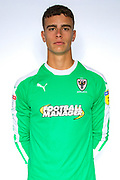 AFC Wimbledon goalkeeper Nicola Tzanev (13) during the official team photocall for AFC Wimbledon at the Cherry Red Records Stadium, Kingston, England on 8 August 2019.