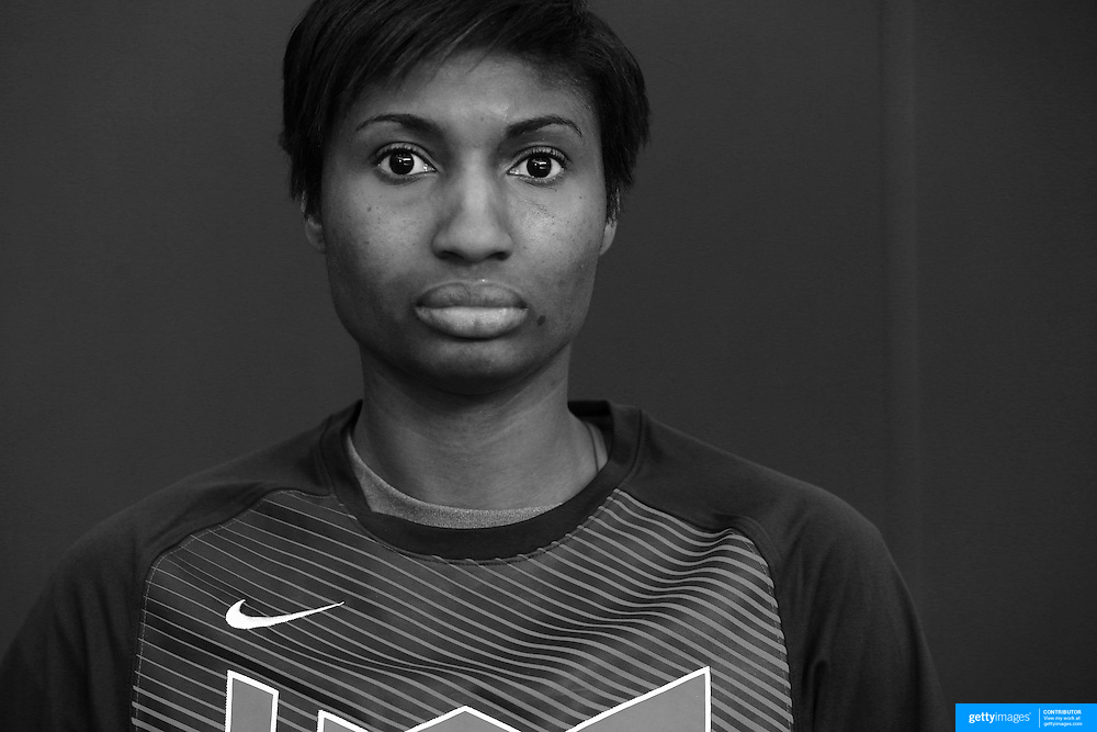 Player Portraits: Angel McCoughtry <br /> <br /> The 2016 USA Basketball Women's National Team Training Camp at the  University of Connecticut&rsquo;s Werth Family UConn Basketball Champions Center, Storrs, Connecticut. 21st February 2016. Photo Tim Clayton