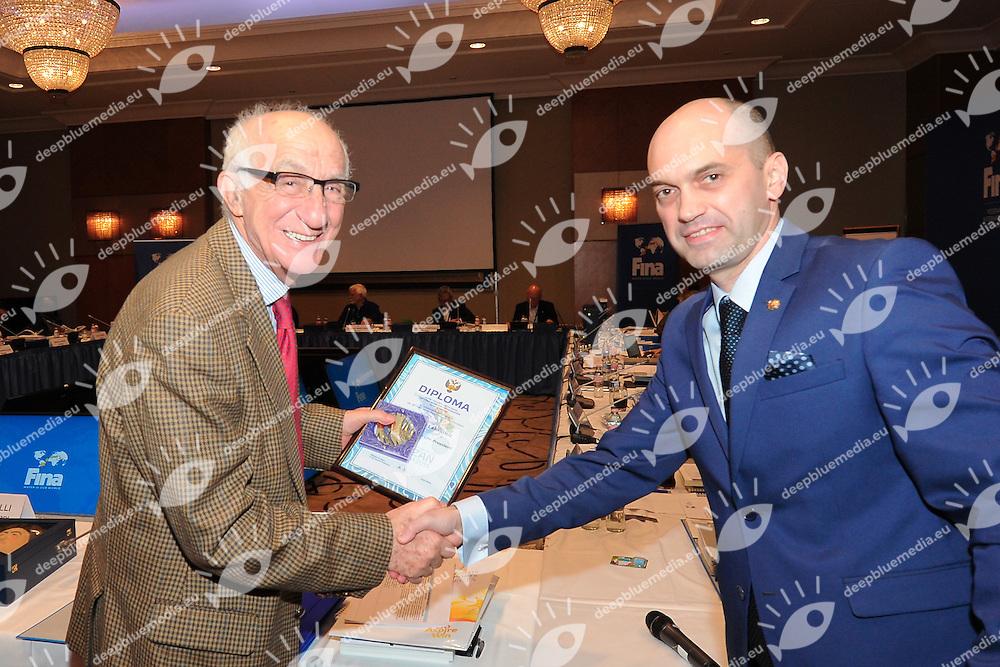 Larfaoui, Kadirov<br /> FINA BEST ATHLETES OF THE YEAR 2015<br /> Hotel Intercontinental Budapest, Hungary<br /> 30 -31 January 2016<br /> Photo G.Scala/Deepbluemedia