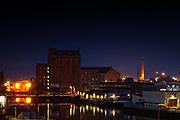 Victoria Mill, Grimsby, Landmark night, atmosphere, building, docks,