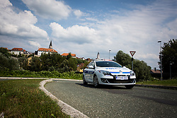Police car during cycling race 48th Grand Prix of Kranj 2016 / Memorial of Filip Majcen, on July 31, 2016 in Kranj centre, Slovenia.  Photo by Ziga Zupan / Sportida