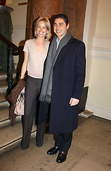 CEM & CAROLINE HABIB at a reception to celebrate the opening of Turks:A Journey of a Thousand Years, 600-1600 - an exhibition of Turkish art held at the Royal Academy of Arts, Piccadilly, London on 18th February 2005.<br />