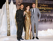 16.NOVEMBER.2012. BERLIN<br /> <br /> KRISTEN STEWART, ROBERT PATTINSON AND TAYLOR LAUTNER ATTEND THE TWILIGHT SAGA BREAKING DAWN PART 2 GERMANY PREMIERE HELD AT THE CINESTAR IN BERLIN, GERMANY.<br /> <br /> BYLINE: EDBIMAGEARCHIVE.CO.UK<br /> <br /> *THIS IMAGE IS STRICTLY FOR UK NEWSPAPERS AND MAGAZINES ONLY*<br /> *FOR WORLD WIDE SALES AND WEB USE PLEASE CONTACT EDBIMAGEARCHIVE - 0208 954 5968*