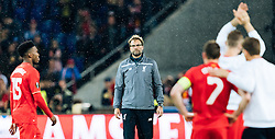 18.05.2016, St. Jakob Park, Basel, SUI, UEFA EL, FC Liverpool vs Sevilla FC, Finale, im Bild enttäuscht Daniel Sturridge (FC Liverpool), Trainer Juergen Klopp (FC Liverpool), James Milner (FC Liverpool) // Daniel Sturridge (FC Liverpool) Trainer Juergen Klopp (FC Liverpool) James Milner (FC Liverpool) disappointed during the Final Match of the UEFA Europaleague between FC Liverpool and Sevilla FC at the St. Jakob Park in Basel, Switzerland on 2016/05/18. EXPA Pictures © 2016, PhotoCredit: EXPA/ JFK