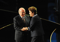 20110730: RIO DE JANEIRO, BRAZIL - Brazilian President Dilma Rousseff attending Qualification draw for the 2014 World Cup held at the Marina da Gloria in Rio<br />