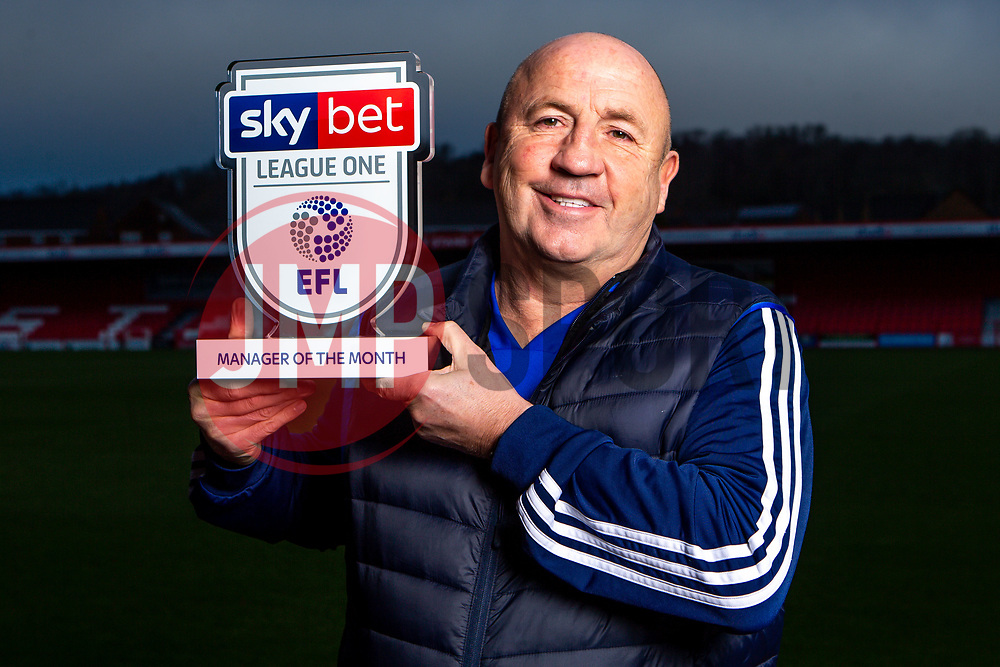John Coleman of Accrington Stanley wins the Sky Bet League One Manager of the Month award for December 2019 - Mandatory by-line: Robbie Stephenson/JMP - 09/01/2020 - FOOTBALL - Wham Stadium - Accrington, England - Sky Bet Manager of the Month Award