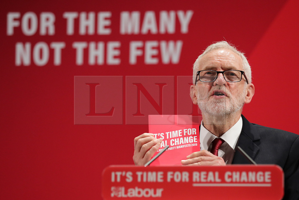 © Licensed to London News Pictures. 26/11/2019. London, UK. Labour Party Leader Jeremy Corbyn arrives for the launch of the party's new Race and Faith manifesto at an event in Tottenham Green, North London. Photo credit: Rob Pinney/LNP