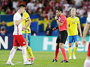 LUBLIN, POLEN 2017-06-19<br /> Domare Slavko Vinčić (SVN) under UEFA U21 matchen mellan Polen och Sverige den 19 juni p&aring; Arena Lublin, Polen.<br /> Foto: Nils Petter Nilsson/Ombrello<br /> Fri anv&auml;ndning f&ouml;r kunder som k&ouml;pt U21-paketet.<br /> Annars Betalbild.<br /> ***BETALBILD***