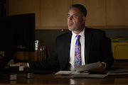 Greg Imm, Senior Vice President and Chief Compliance Officer at M&amp;T Bank works in his office in Buffalo, New York on Thursday, May 19, 2016. CREDIT: Mike Bradley for the Wall Street Journal<br /> WATCHERS