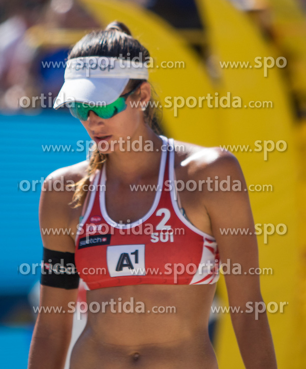30.07.2016, Strandbad, Klagenfurt, AUT, FIVB World Tour, Beachvolleyball Major Series, Klagenfurt, Herren, im Bild Joana Heidrich (2, SUI) // during the FIVB World Tour Major Series Tournament at the Strandbad in Klagenfurt, Austria on 2016/07/30. EXPA Pictures © 2016, PhotoCredit: EXPA/ Lisa Steinthaler